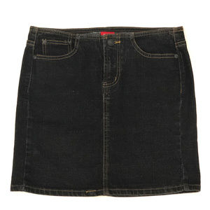 Dark Wash Navy Denim Mini Skirt